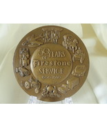 Bronze Mid-Century Medallion Award 50 Years of Firestone Service 1900 - ... - $49.99