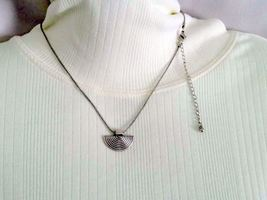 Tibetan Silver Half Moon Repurposed Vintage Necklace, Gift Idea, Gift Id... - $12.50