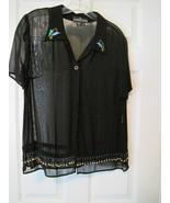 """Carole Little Sheer """"Little Black Shirt"""" Very C... - $20.00"""