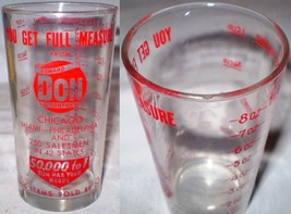 Advertising Measuring Glass Edward Don & Co Variation 12 - $10.00