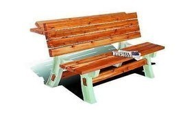 Patio Picnic Table Bench Portable Folding Outdoor Cookout Seating Lounge... - $96.74