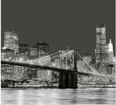 NEW YORK Bridge Scenery Cool Desing Bathroom Use 180 x 180 cm SHOWER CUR... - $29.99
