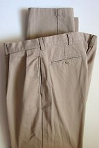 Polo Ralph Lauren Pants 36 X 33 Beige Pleated Chinos Trousers Andrew Pant Khaki - $24.99