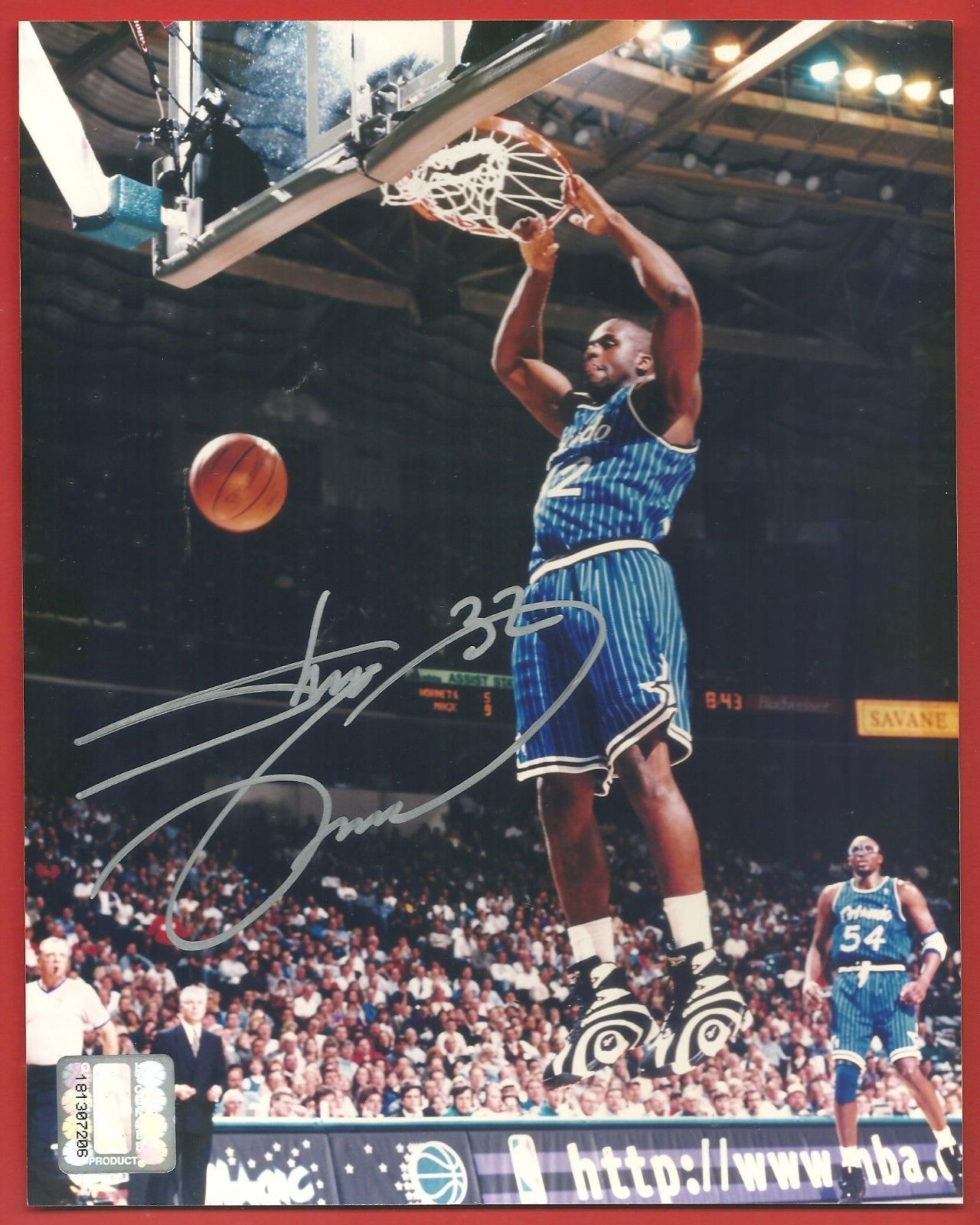 Primary image for SHAQUILLE  O'NEAL   HAND  SIGNED   SILVER  AUTHENTIC  AUTOGRAPHED   8 X 10    !!