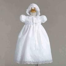 Gorgeous Lace Baby Girl Christening Dress Hat Set, Crayon Kids USA - $37.95