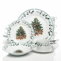 Tree Trimming 20 pc Dinnerware Set Christmas Theme by Gibson Home - $61.33