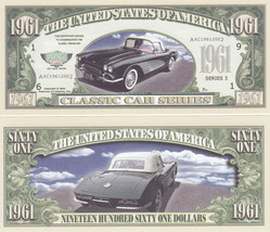 10 Chevy 1961 Corvette Convertible Novelty Notes Lot - $3.95