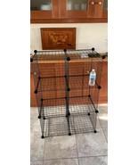 Basics 6 Cube Grid Wire Storage Shelves, Black - $49.49