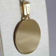 18K YELLOW GOLD OVAL, PHOTO & TEXT ENGRAVED PERSONALIZED PENDANT 25 MM, MEDAL image 3