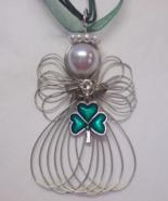 Good Luck Shamrock Angel Necklace New Handmade - $11.00