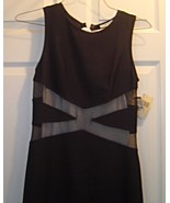 Ladies Size L Black Long Bodycon Sleeveless Dress Sheer New with Tags Ra... - $24.99
