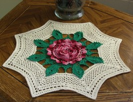 Giant Rose Table Topper - Irish Crocheted Rose ... - $46.00