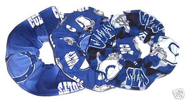 Indianapolis Colts Hair Scrunchie Tie Ponytail Holder Scrunchies by Sherry NFL - $6.99+