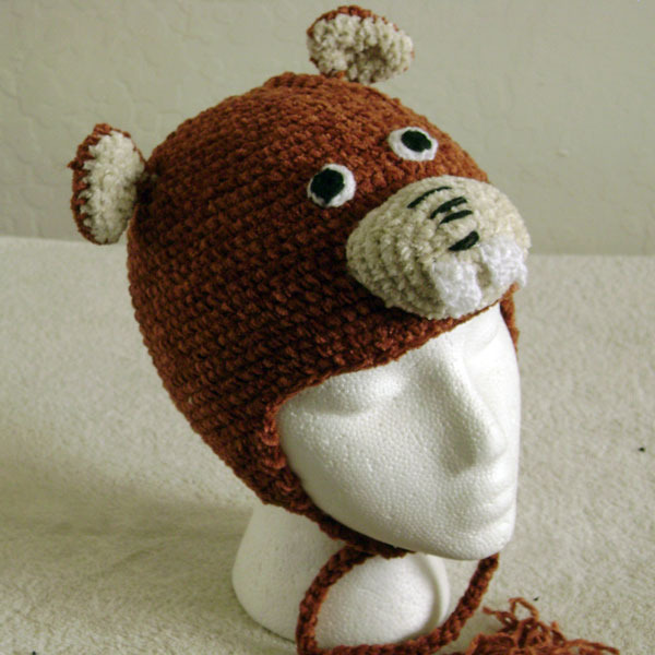 Beaver w/ Ties for Children - Animal Hats - Small