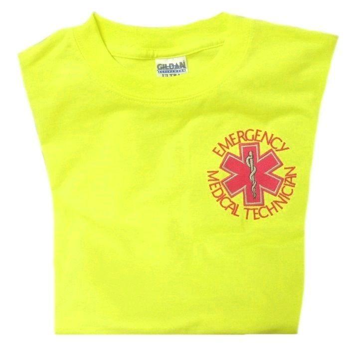 EMT Emergency Medical Technician Safety Green Short Sleeve T Shirt 2X New