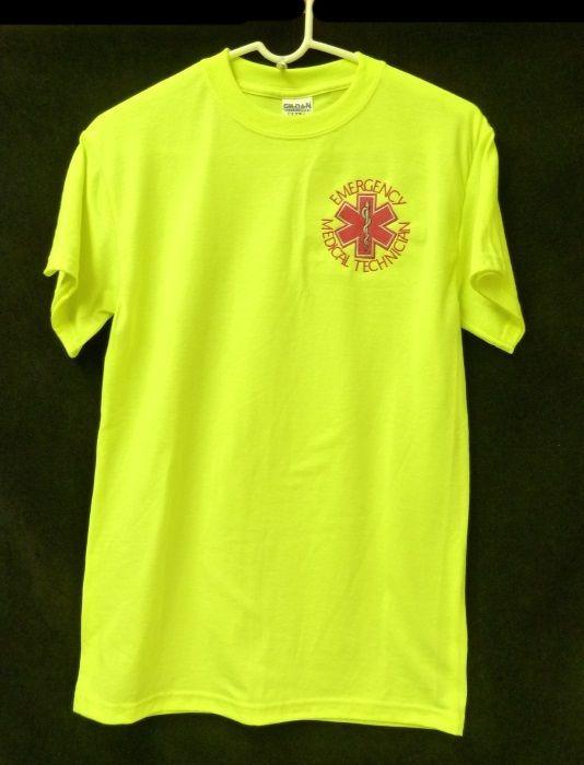 EMT Emergency Medical Technician Safety Green Short Sleeve T Shirt Small New