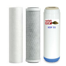 Carbon/Kdf55 Chlorine/ Heavy Metals/Voc's  Sediment Carbon Block Filters Set - $39.11