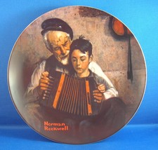 """Norman Rockwell Plate by Knowles """"The Music Maker"""" - $6.92"""