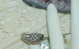 Sterling Silver 4.00ct. Round Cut Ring Band Solitaire Ring CZ Size 7 Eng... - $39.99