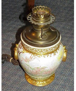 Antique Gone with the Wind Lamp Royal Worcester Porcelain Pottery Fabulo... - $689.99