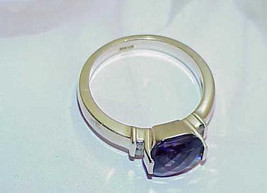 14K 1.00ct Amethyst Pillow Cut 4 Diamond Ring Yellow Gold Sz 7.25 Rich Color - $489.99