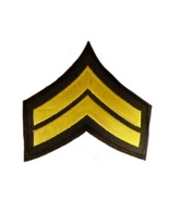 Retired Gold Brown Chevron Police Security Guard Uniform Corporal Milita... - $8.70