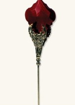 RUBY SPEAR STAIN GLASS HATPIN  - $33.99