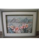 MARCUS R. TUCKER LANDSCAPE PAINTING & ORIGINAL 3-D FABRIC ARTWORK SIGNED - $299.99