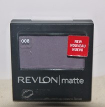 Revlon Matte Eye Shadow in Aubergine 008 in Compact w/Brush NEW - $8.90
