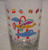 St Louis Shot Glass Tall Style 1994 The Parades Collection Flags Planes The Arch - $7.99