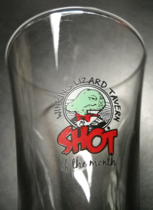 Winking Lizard Tavern Shot Glass Shot of the Month Flared Style Tall Size