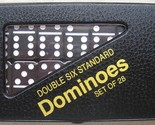 dominoes dominos FREE SHIP USA STANDARD SIZE DOUBLE 6 Black