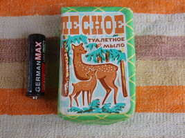 VINTAGE SOAP LESNOJE  MADE IN THE USSR UNION ABOUT 1970 NOS - $10.28
