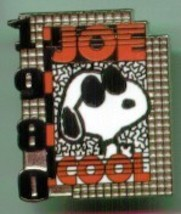Peanuts Snoopy Joe Cool 1980s Wincraft pin NOC HTF - $9.00
