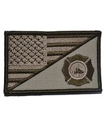 USA Flag / Firefighter Maltese Cross 2.25x3.5 Military Patch / Morale Pa... - $6.85