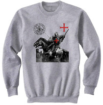 Knight Templar Crusader   New Cotton Grey Sweatshirt  All Sizes In Stock - $49.51