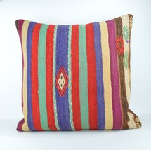24x24'' large kilim pillow big pillow decorative pillow cover large cush... - $32.00