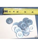 """Lot of 14 BLUE translucent molded plastic buttons 7/8"""" - $3.00"""