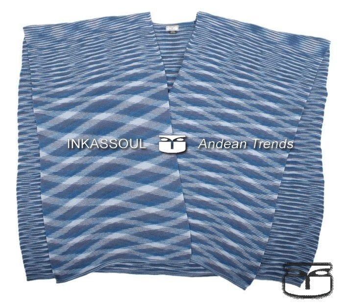 Primary image for INKASSOUL SQUARED WRAP WOMEN   -  30%polyamide & 70%acrylic, BR-955 (blue/white)