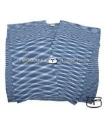 INKASSOUL SQUARED WRAP WOMEN   -  30%polyamide & 70%acrylic, BR-955 (blue/white) - $90.00