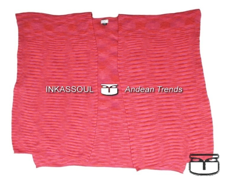 Primary image for INKASSOUL SQUARED WRAP WOMEN  -  30%polyamide & 70%acrylic, BR-953 (pink/red)