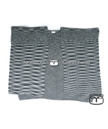 INKASSOUL SQUARED WRAP WOMEN  -  30%polyamide & 70%acrylic, BR-957 (black/white) - $90.00
