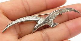 925 Sterling Silver - Vintage Frigate Soaring Bird Designed Brooch Pin -... - $41.43