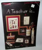 Teacher Counted Cross Stitch Pattern Craft Kathie Rueger Leisure Arts School - $9.89