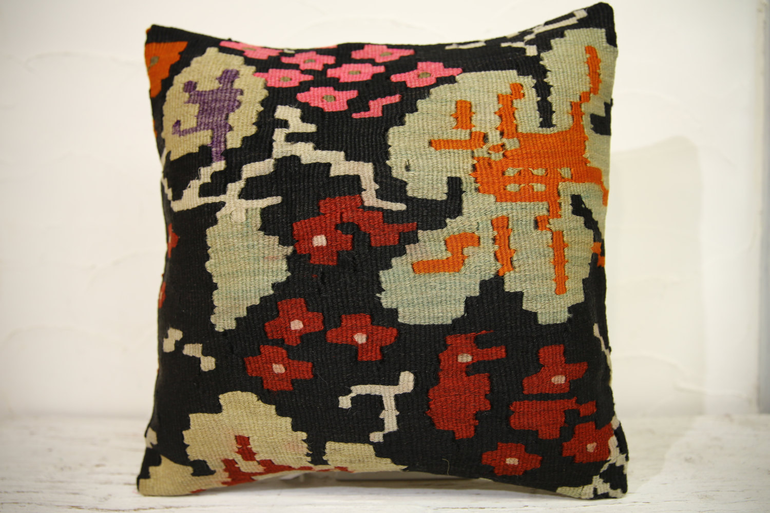 Kilim Pillows | 16x16 | Turkish pillows | 1119 | Ethnic Pillow , Kelim cushion