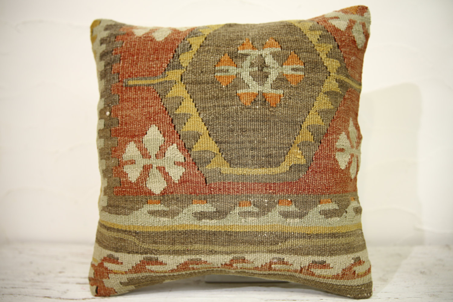 Kilim Pillows | 16x16 | Turkish pillows | 1115 | Ethnic Pillow , Kelim cushion ,
