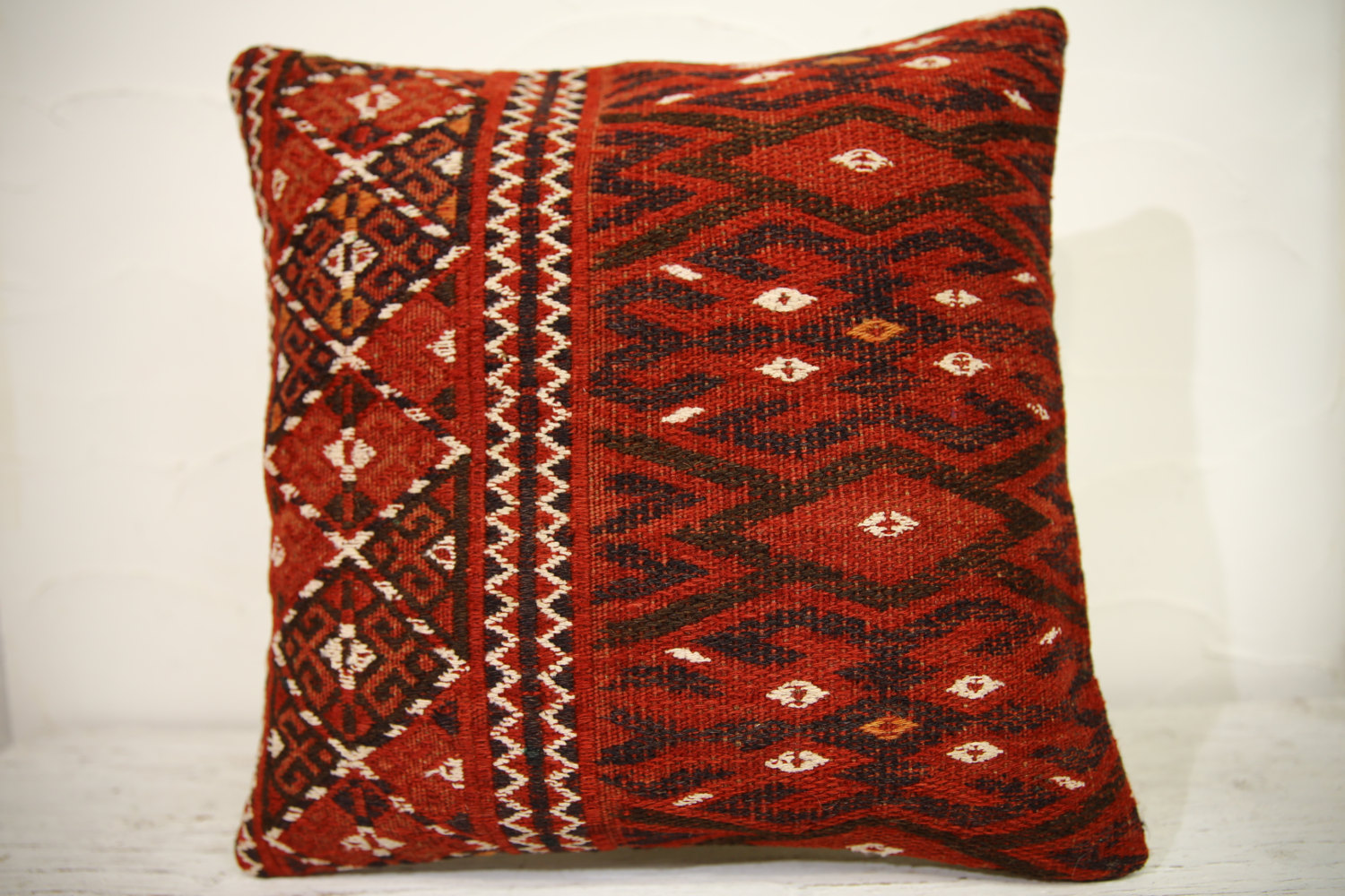 Kilim Pillows | 16x16 | Turkish pillows | 1105 | Ethnic Pillow , Kelim cushion ,