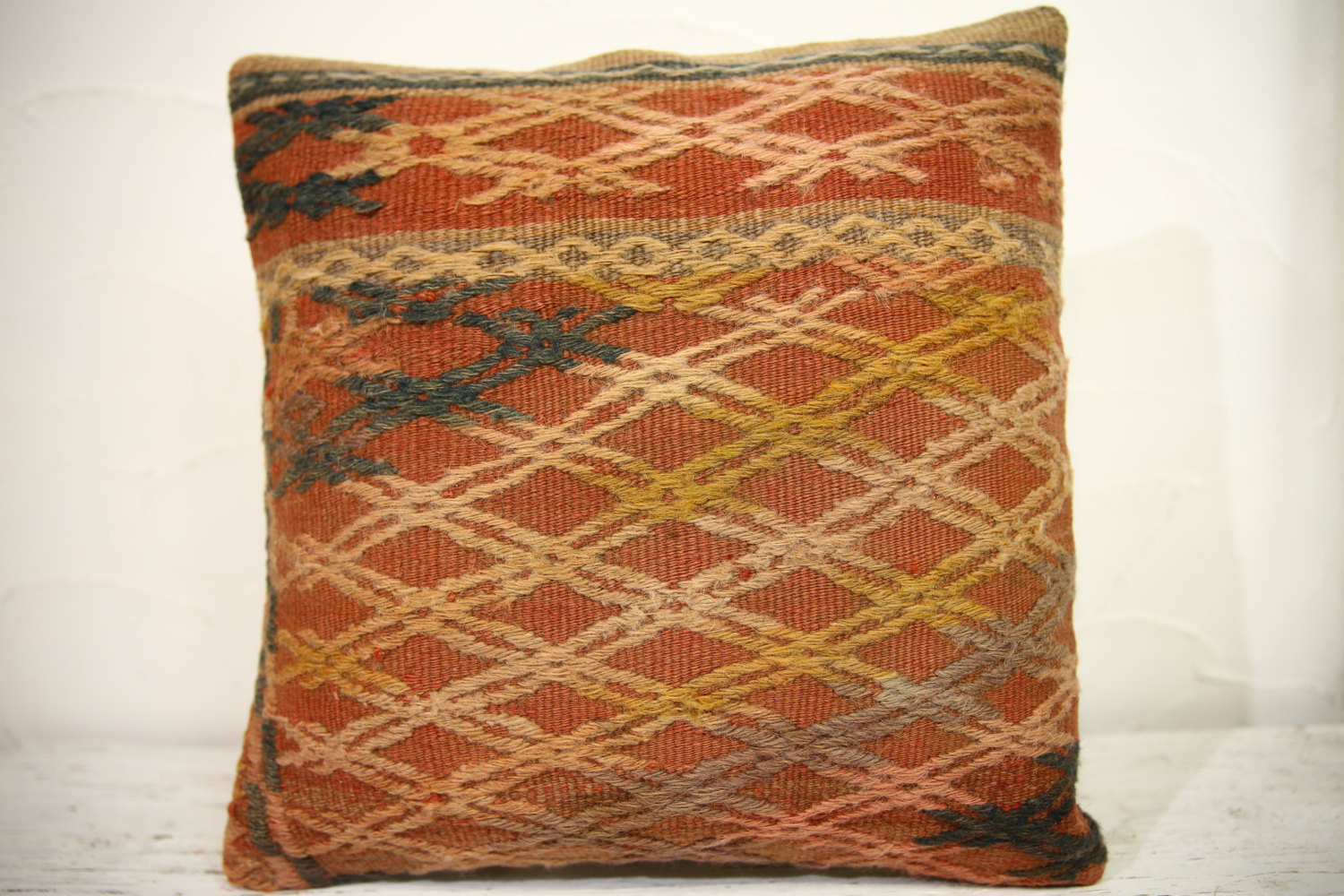 Kilim Pillows | 16x16 | Turkish pillows | 1096 | Ethnic Pillow , Kelim cushion ,