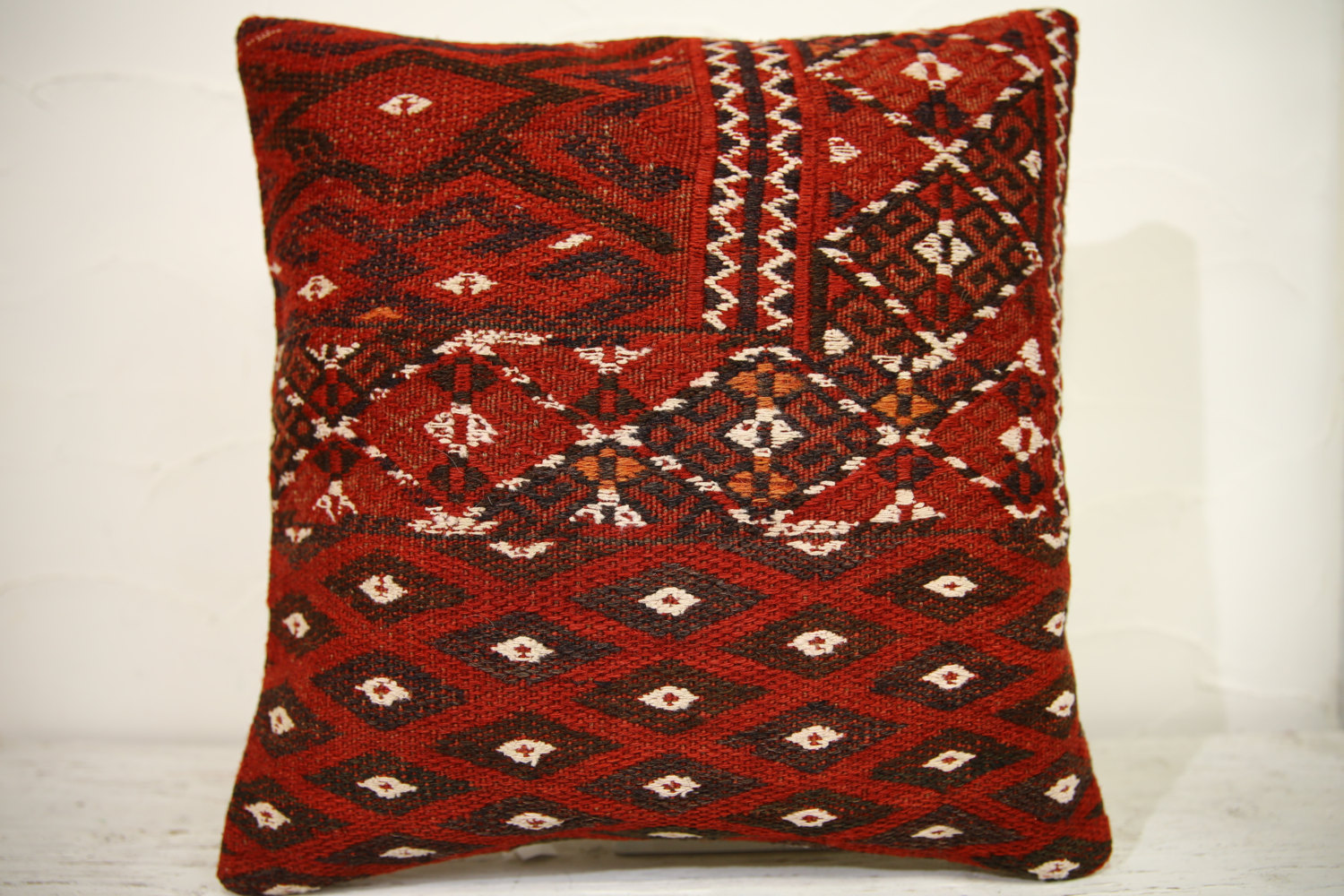 Kilim Pillows | 16x16 | Turkish pillows | 1107 | Ethnic Pillow , Kelim cushion ,