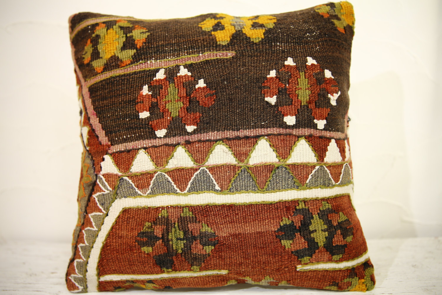 Kilim Pillows | 16x16 | Turkish pillows | 1099 | Ethnic Pillow , Kelim cushion ,